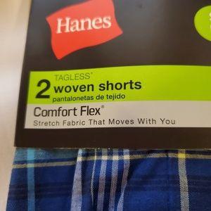 Hanes Tagless woven shorts 2pack